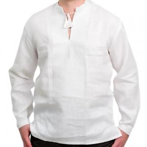 Вышиванка мужская белая по белому 2003