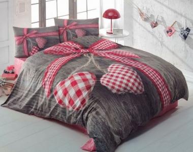 Постельное бельё ТМ Cotton Box ранфорс Love Box евро-размер