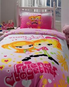 Подростковый постельный комплект ТМ Storway ранфорс Little Girls