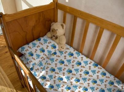 Детский постельный комплект ТМ Novita фланель 10-0241 blue