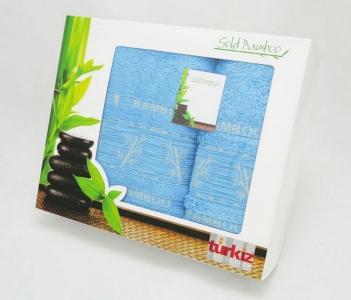 Набор полотенец Turkiz Bamboo голубое