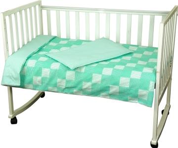 Детский постельный комплект ТМ Руно Клетка зеленый