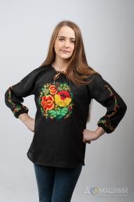 Вышиванка женская Петриковка черная 1021