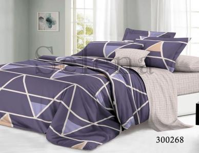 Постельное белье ТМ Selena сатин Фиолетовая Геометрия 300268