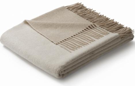 Плед шерстяной ТМ Biederlack Soft Impression beige-creme 130х170