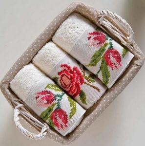 Набор махровых полотенец из 3 штук ТМ Begonville Lauren 3 30х50