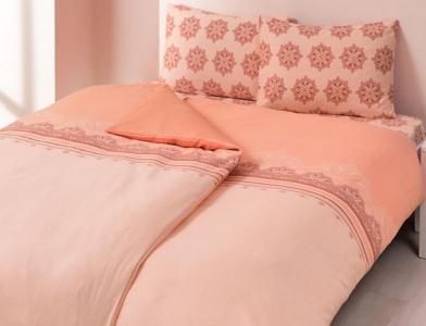 Постельное бельё сатин Everyday ТМ TAC Elis розовый евро-размер