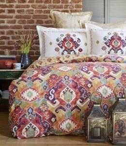 Постельное белье ТМ Karaca Home ранфорс Alambra Turuncu евро-размер