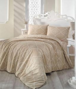 Постельное белье ТМ Altinbasak ранфорс Lamina sari евро-размер