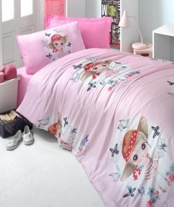 Постельное белье ТМ LightHouse ранфорс Candy girl розовый