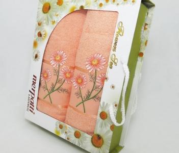 Набор полотенец из хлопка ТМ Gulcan Merpatti персиковый