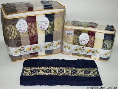 Набор полотенец из 6 штук Cestepe VIP Cotton Dama grek 01