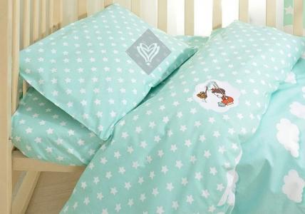 Детский постельный комплект ТМ Идея Звездочки ментол
