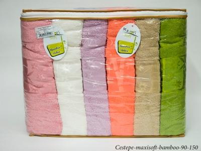 Набор полотенец из 6 штук Cestepe maxisoft Bamboo 90x150