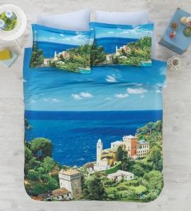Постельное бельё ТМ Cotton Box 3D Living Earth сатин Italian евро-размер