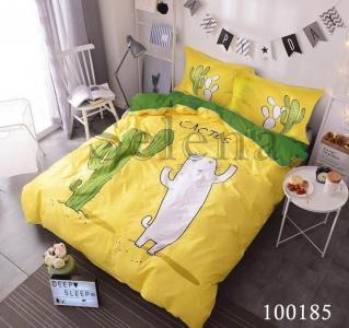 Постельное белье ТМ Selena бязь Кактусы Зеленые 100185