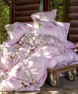 Постельное бельё ТМ Karaca Home сатин Wisteria Pembe евро-размер