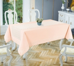 Скатерть ТМ Tropik home Joie Collection Pink 160х220