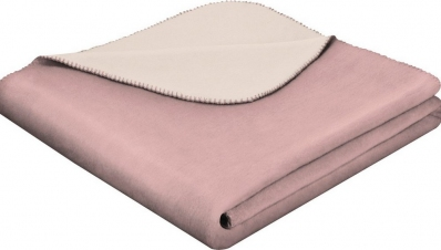 Плед хлопковый ТМ Biederlack Duo Cotton lotus-pergament 150х200