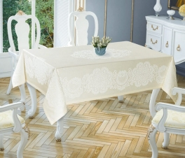 Скатерть ТМ Tropik home Royal Cream 5698-5 150х220