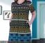 Халат трикотажный хлопковый ТМ Cocoon женский 30300 размер