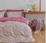 Постельное бельё ТМ Karaca Home сатин Fireze розовый евро-размер