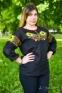 Вышиванка женская Подсолнухи 1004 черная