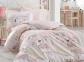 Постельное белье ТМ Hobby Poplin Sonia розовое полуторное