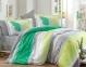 Постельное белье ТМ Hobby Exclusive Sateen Nicoletta зеленое евро-размер