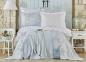 Постельное белье с пледом ТМ Karaca Home Story New Mavi евро-размер