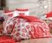 Постельное белье ТМ Hobby Poplin Love Me красное евро-размер