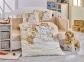 Детский постельный комплект ТМ Hobby Snowball бежевый
