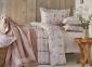 Постельное белье с покрывалом ТМ Karaca Home Plaid pudra 2019-1 евро-размер