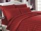 Постельное белье ТМ Altinbasak сатин жаккард однотонный евро-размер Red