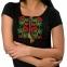 Вышитая футболка Калина чёрная 1728