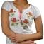 Вышитая футболка Роза белая 1729