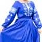 Вышитое платье в пол Окошко 1515