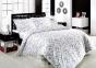 Постельное белье ТМ Altinbasak сатин люкс евро-размер Еlis beyaz