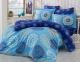 Постельное белье ТМ Hobby Exclusive Sateen Ottoman голубое евро-размер