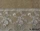 Полотенце махровое с кружевом ТМ Arya Yildiz светло-коричневое
