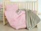 Детский постельный комплект с пледом ТМ Идея Корона розовый