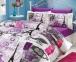 Постельное белье ТМ Hobby Poplin Vicenta сиреневое евро-размер