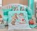 Детский постельный комплект ТМ Hobby Snowball мятный