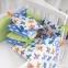 Бортик в кроватку с простыней ТМ Маленькая Соня Baby Design Премиум Самолеты