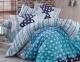 Постельное белье ТМ Hobby Exclusive Sateen Marсella синий евро-размер
