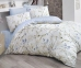 Постельное белье ТМ Luoca Patisca Ranforce Blossom голубое евро-размер