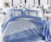 Постельное белье ТМ Hobby Exclusive Sateen Laura голубое евро-размер