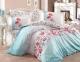 Постельное белье ТМ Hobby Poplin Fiesta голубое евро-размер