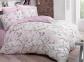 Постельное белье ТМ Luoca Patisca Ranforce Blossom розовое евро-размер