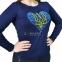 Вышитая футболка тризуб в сердце 1749